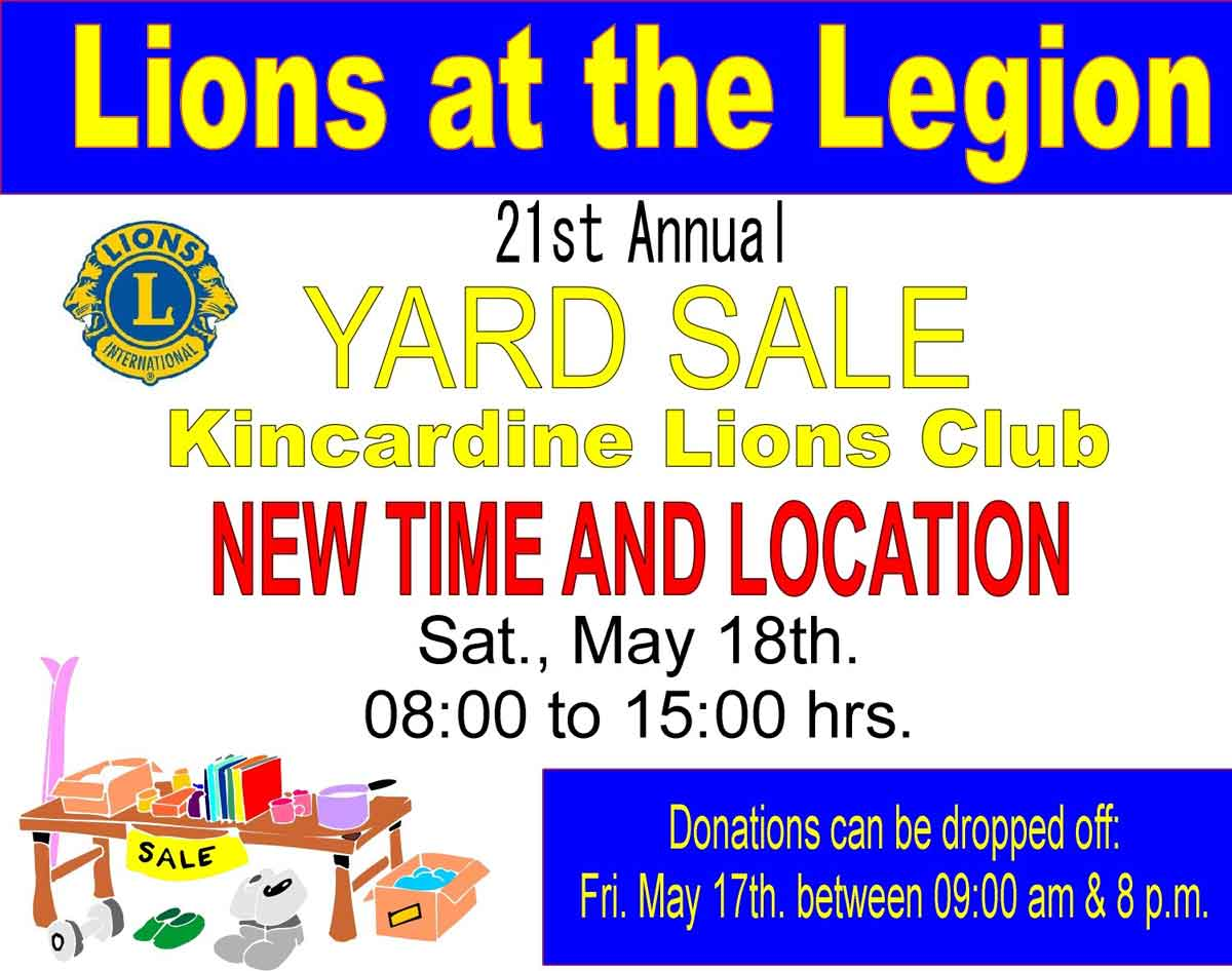 Lions at the Legion - Yard Sale